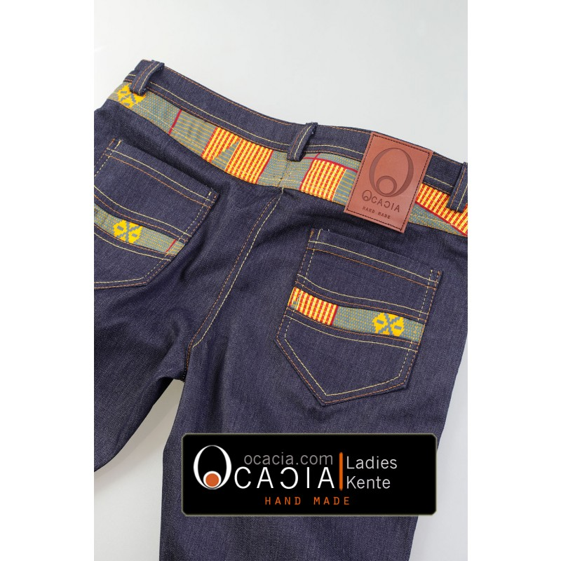 Kente Ladies Afro-Jeans