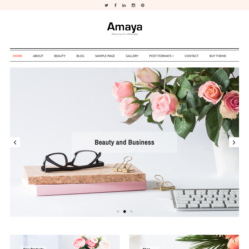 Amaya WordPress Theme
