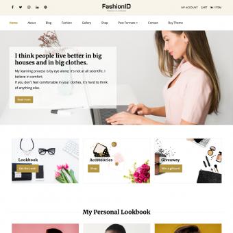 FashionID WordPress Theme