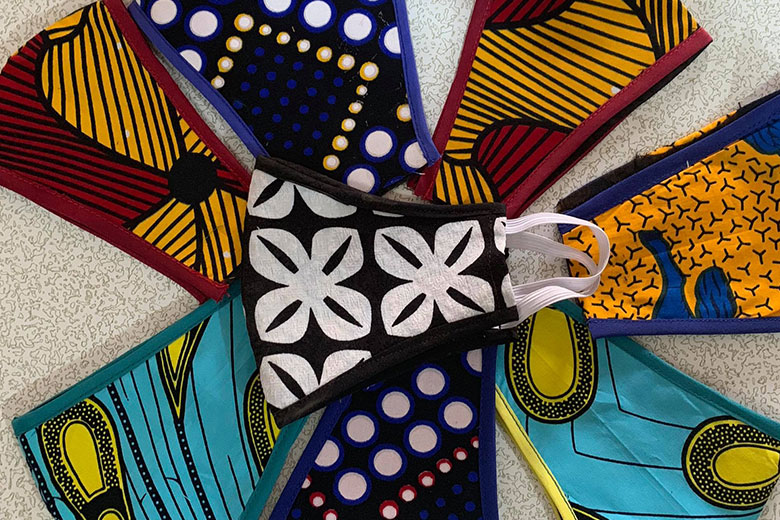 Ankara face masks by Velma Yabu