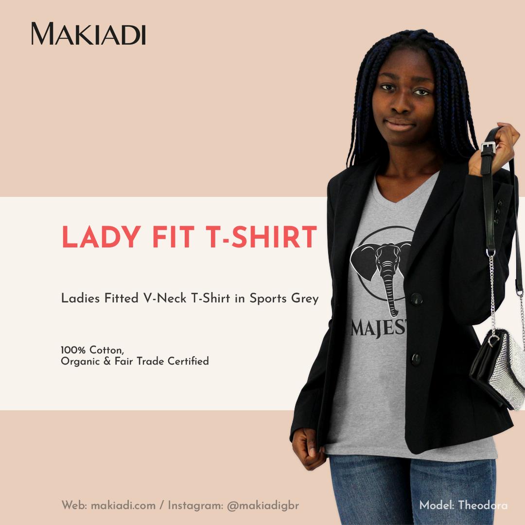 Makiadi Lady V-Neck T-shirt