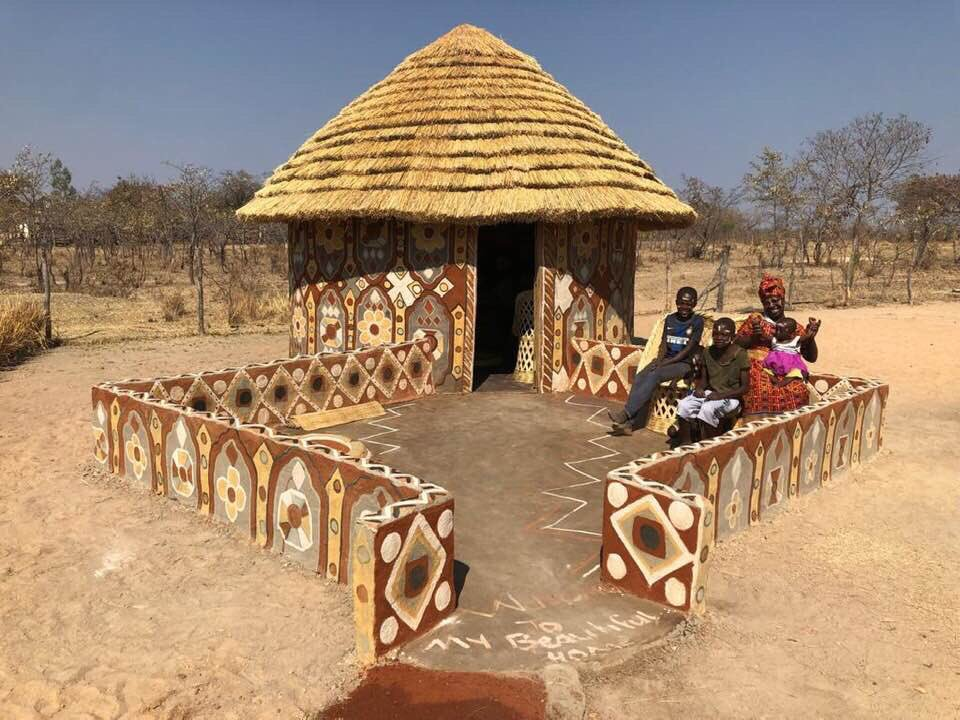 The Matobo Women Traditional Hut Art