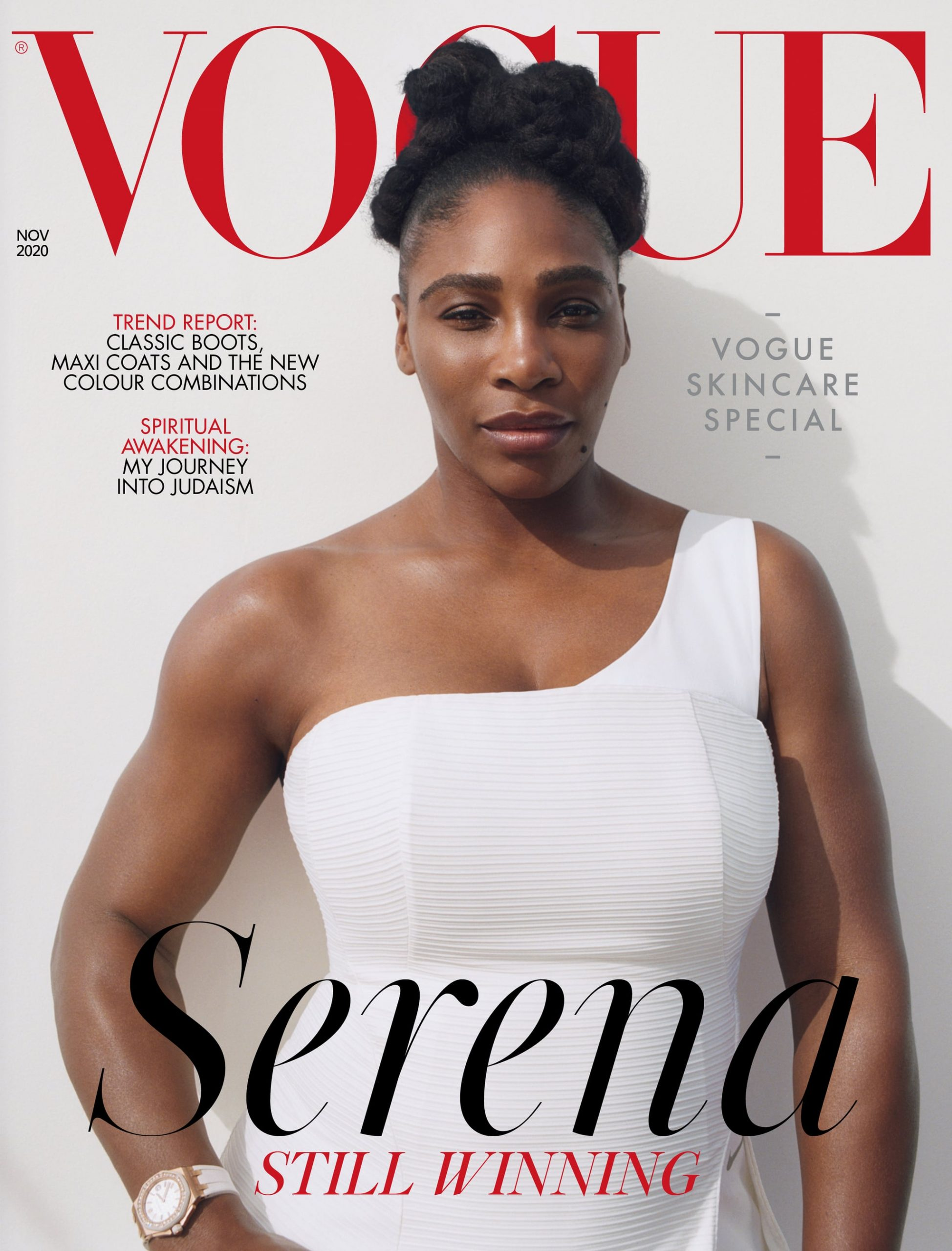 Serena Williams on November 2020 Issue Cover of British Vogue